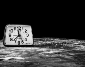Clock Black and White